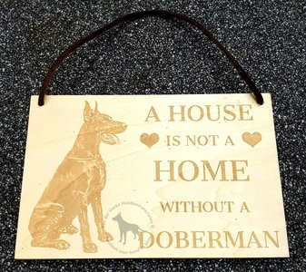 Doberman - decoratie bordje