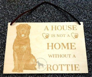 Rottweiler - decoratie bordje