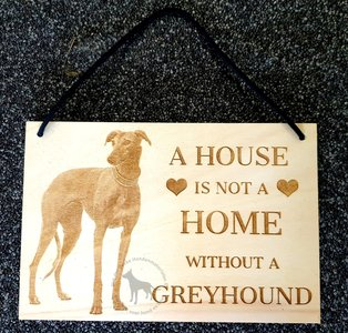 Greyhound - decoratie bordje